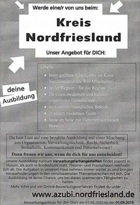 Ausbildungsplätze beim Kreis Nordfriesland